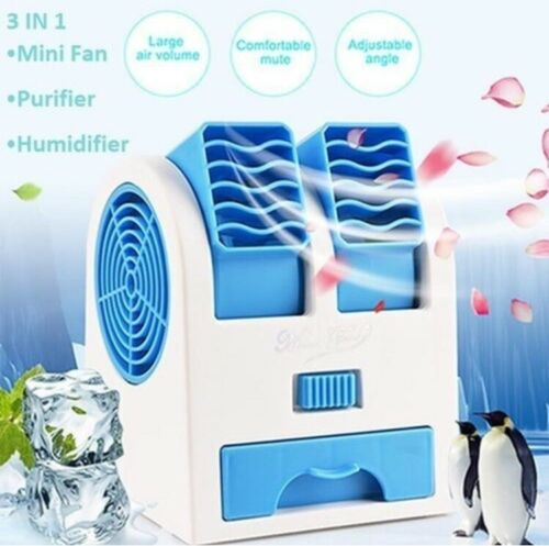 Portable Personal Space Mini Fan Air Conditioning Cold Humid
