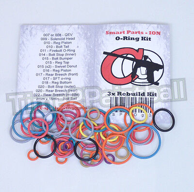 Smart Parts Ion Color Coded 3x Oring Rebuild Seal Kit **FREE SHIPPING**