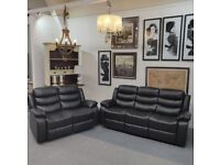 Roma recliner sofas with cupholders 3 + 2 seater