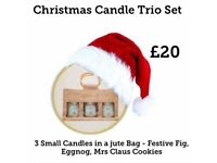 Christmas trio candle set