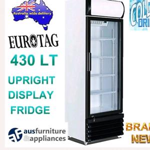 430lt upright Commercial display fridge- NEW!