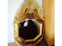 Large Gold Mirror