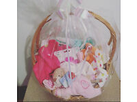 BABY GIFT WRAPPED BASKET