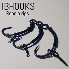 Hand sharpened hooks, terminal tackle and Ronnie rigs