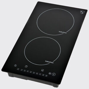 "2 Burner 12"" Induction Ceramic Cooktop 220V"
