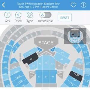 Taylor Swift August 4th front stage tickets