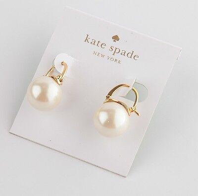 KATE SPADE CLASSIC PEARL STUD EARRINGS White/Gold