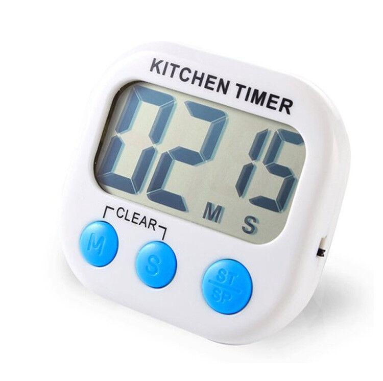 2 pack digital kitchen timer magnetic lcd