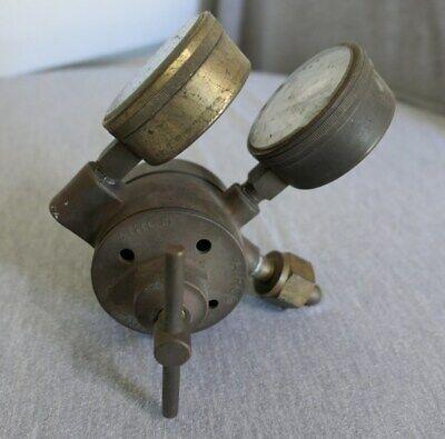 Antique Vintage Brass Airco Marsh Oxygen Gas Regulator Welding Gauge Works