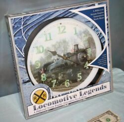 Locomotive Legends 12 Dif. Steam Engine Train Sound Wall Clock by Mark Feldstein
