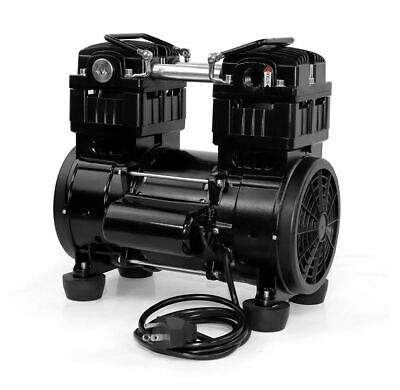 Oil Free Twin Piston Diaphragm Vacuum Pump 8.5 Cfm 280lpm 850w 110v Us Stock