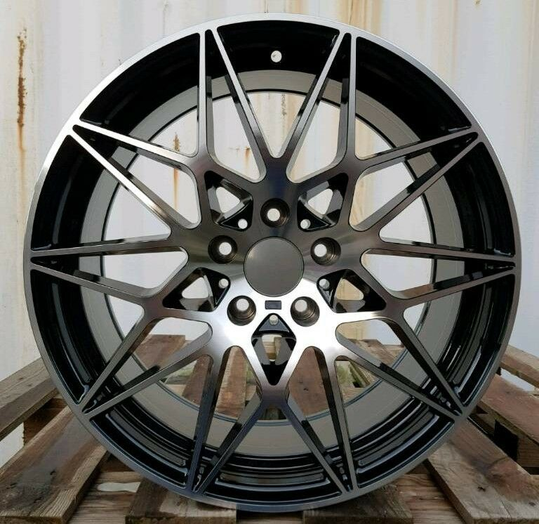 NEW 19'' 666M COMPETITION ALLOY WHEELS X4 BOXED 5X120 TO