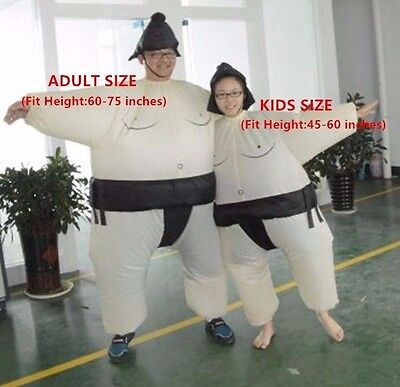 Sumo Wrestler Inflatable (Funny Inflatable Sumo Wrestler Wrestling Suits Halloween Costume-Adult)