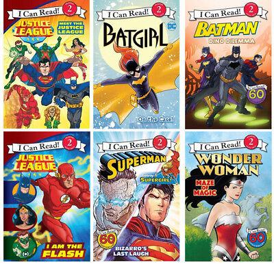 I Can Read Justice League Superman,Batman,Batgirl,Wonder Woman.... (6 Paperback)