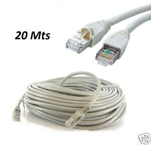 20m meter rj45 cat5e ethernet network internet lan patch. Black Bedroom Furniture Sets. Home Design Ideas