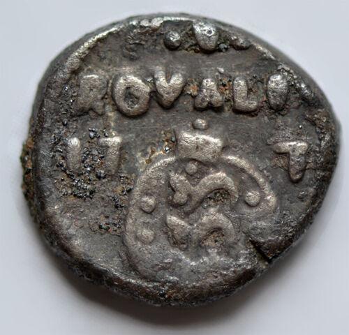 DANISH INDIA (Tranquebar) 1 Royalin 177(x) Silver VF Christian VII (1767-1799)