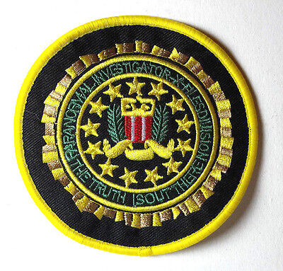 "X-Files Paranormal Investigations Circular Logo 3.5"" Embroidered Patch (XFPA-01)"