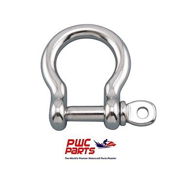 """10 Pack 3//8"""" US BOW SHACKLE 1,500 Pound WLL BOAT MARINE Hot Dipped Galvanized"""