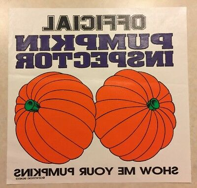 Vintage T-shirt Heat Transfer Official Pumpkin Inspector Show Me Your Pumpkins