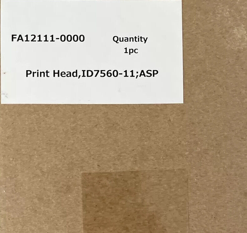 Epson Fa12111 Print Head For F2000/F2100. Brand New, Original Epson
