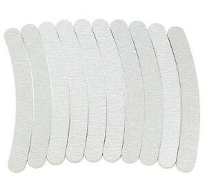 50-x-Limas-Para-Unas-100-180-Gris-Curva-Arte-en-Unas-Manicura-archivo-de-lijado-Grits-herramientas
