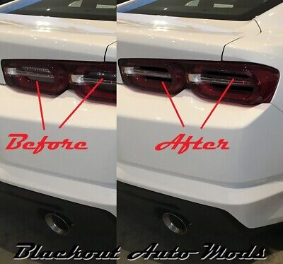 2019 CAMARO TAIL LIGHT BLACKOUT KIT SMOKED ACRYLIC COVERS INSERTS LT RS SS ZL1 Camaro Tail Light Covers