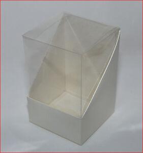 Bomboniere fai da te 10 scatole 11x11x16 duo trasparente for Scatole fai da te