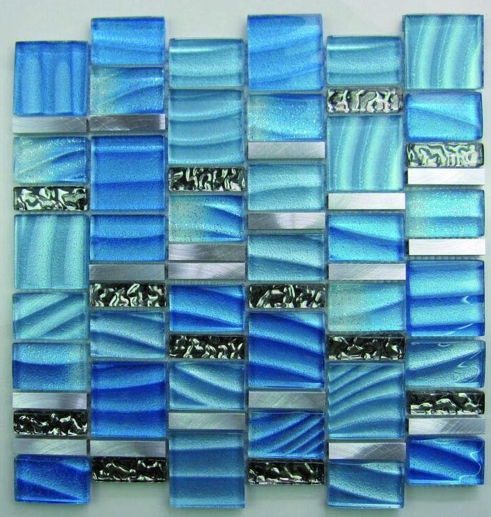 Glasmosaik Fliesen Peacock Schwarz Schillernd f/ür Wandverkleidung K/üchenr/ückwand Badezimmer Fliesenspiegel Duschwand Bad