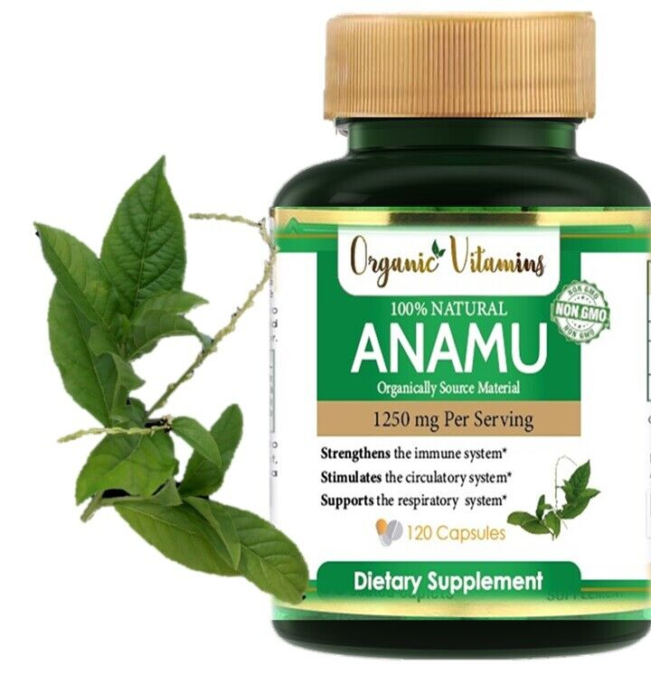 Natural Whole Herb Anamu PIlls 1250Mg Guinea Hen Weed 120 Capsules 1