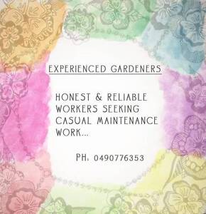 Experienced Gardeners Fitzroy North Yarra Area Preview
