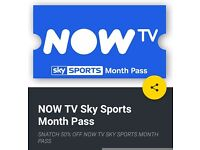 50% off Now TV Skysports month pass discount code