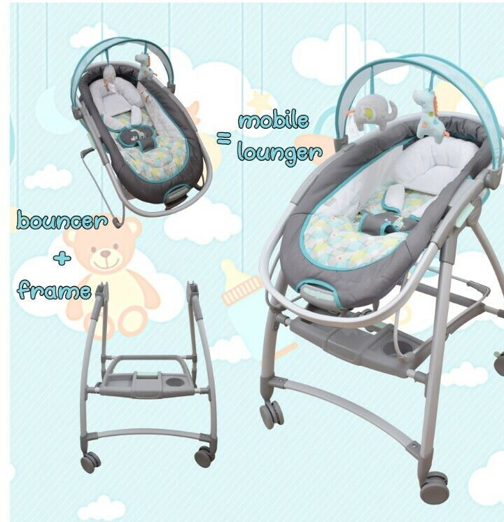 Ingenuity Inreach Mobile Lounger and Bouncer. Sound & motion With Canopy Toys