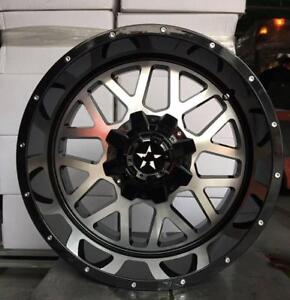 20x10 BLACK MACHINED WHEELS! awesome HUGE LIP! Ford-Dodge-Cadillac-Chevrolet-GMC-Chrysler -863