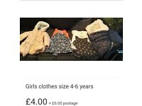 Girls clothes bundle size 4-6 years