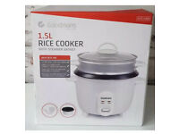 Brand new goodmans 1.5 ltr rice cooker with steamer basket