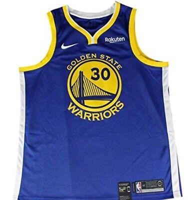 Nike NBA #30 Stephen Curry Golden State Warriors Jersey Size Medium - Blue