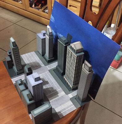 CITY-A: Paper-craft Diorama - City Scene for Sci-Fi, Monster, Godzilla figures