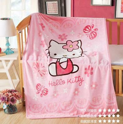 NEW cartoon Hello Kitty Soft Warm Coral Fleece 70*100CM Throw Blanket Rug Plush