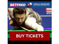 World Snooker Championship final tickets