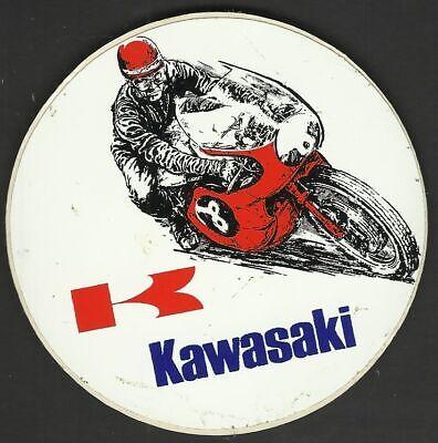 Moto KAWASAKI ancien sticker autocollant
