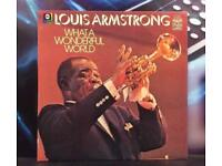 Louis Armstrong What a Wonderful World Vinyl Record - Jazz Pop Music Album Collectible Collectors LP
