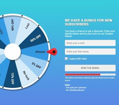 Coupon Wheel Plugin For Woocommerce And Wordpress More Sales Leads