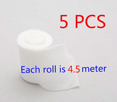 5 Rolls of Elastic Adhesive Stretch Bandage By The Roll Clean Medical JK