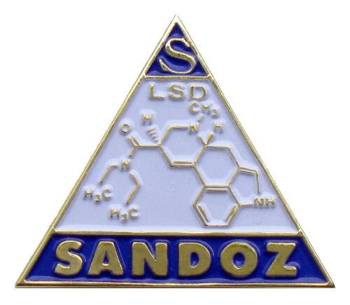 Sandoz pharmaceutical LSD lapel hat pin Albert Hofmann