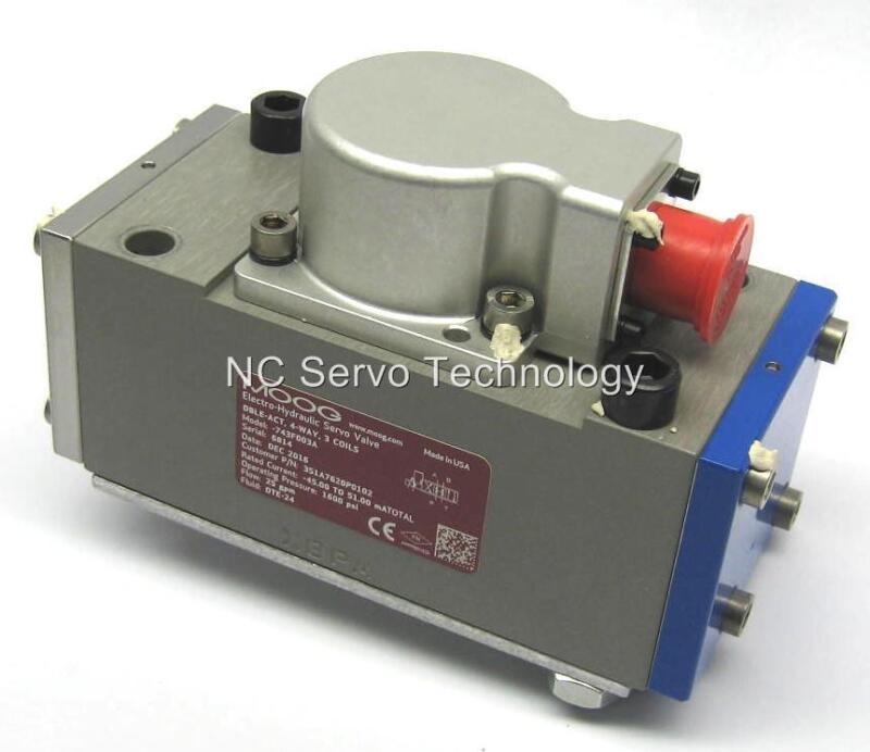 New Moog 743f003a Servo Valve P/n 351a7620p0102 W/warranty