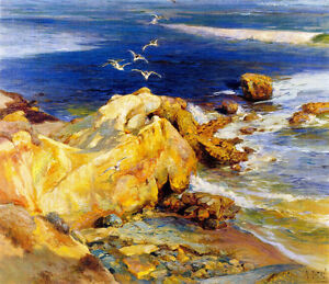 Laguna Beach  by Mathias J Alten   Giclee Canvas Print Repro