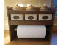 tea coffie sugar kitchen roll holder