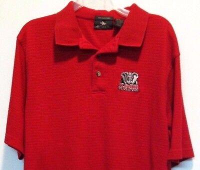 Antigua Ribbed Crimson Red Polo Shirt Alabama Crimson Tide Sz Large (Antigua Ribbed Polo Shirt)