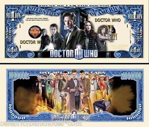 DR WHO MEMORABILIA  - 50TH ANNIVERSARY $1 Million Banknote/Bill -Collectors Pack