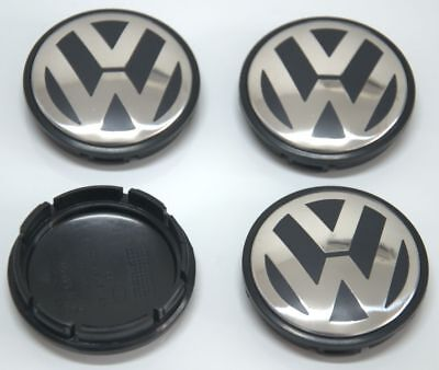 4Pcs VW Wheel Center Cap Hubcap Emblem Logo For Jetta Golf Beetle 1J0601171 56MM